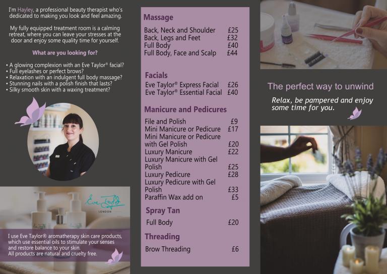 Hayley Kooner Beauty Treatment Pricing_2